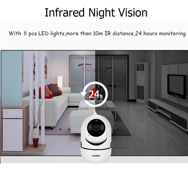 SECTEC Cloud Wireless IP Camera 1080P Intelligent Auto Tracking Of Human Home Security Surveillance CCTV Network Wifi Cam 4