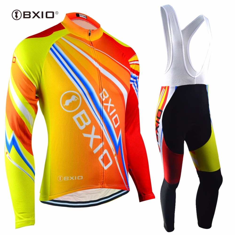 BXIO Brand Winter Thermal Fleece Cycling Jerseys 5D Gel Pad Bike Clothes EU Long Sleeves Bicycle Clothing Maillot Ciclismo 100 polyester summer breathable cycling jerseys pro team italia short sleeve bike clothing mtb ropa ciclismo bicycle maillot gel pad