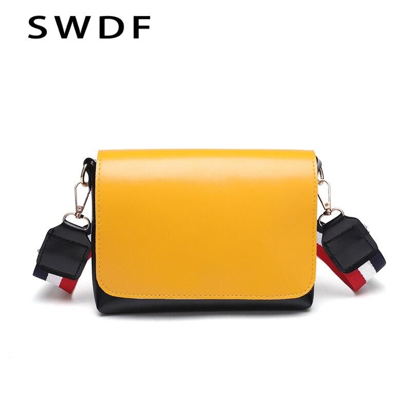 Swdf 2018 летняя женская мода яркая сумка через плечо леди дизайнер клапаном Новые 3 Красочные ремень сумки на плечо дамы Bolsa Сумки