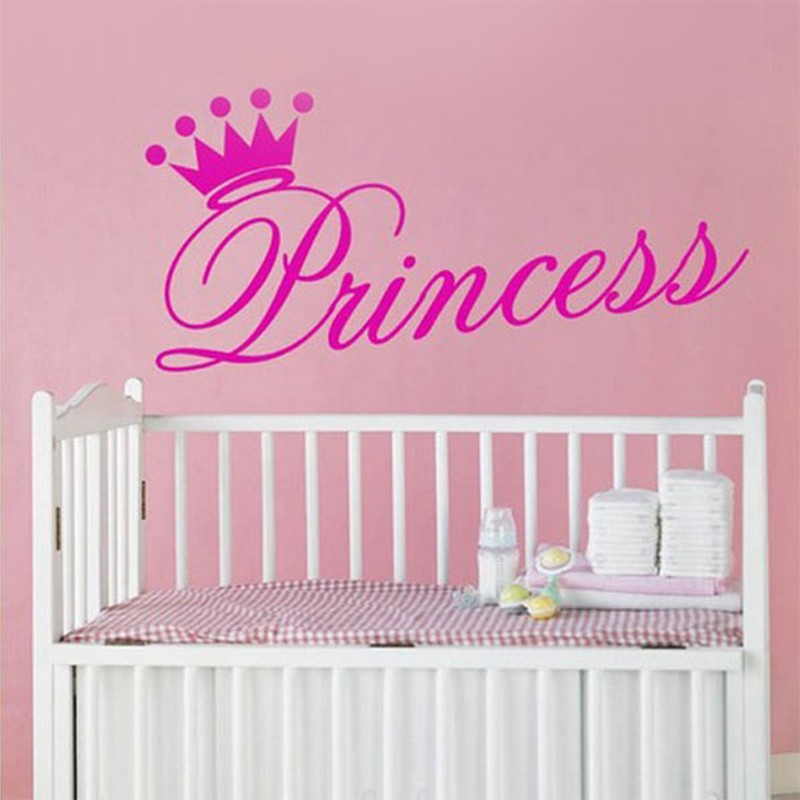 Aliexpress.com : Buy Princess Crown Vinyl Wall Art Stickers Girl Bedroom  Wall Decals Quote Lettering Home Decoration Centerpieces Sticker On The Wall  From ... Part 80