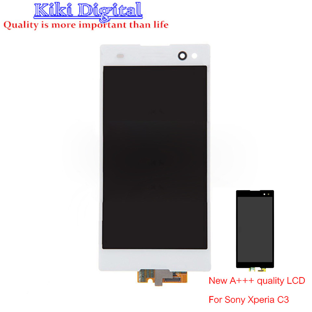 WOJOQ Original quality LCD Display for Sony Xperia C3 S55T S55U D2533 D2502 LCD Touch Digitizer Assembly