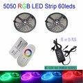 led strip 5050 RGB LED strip light smd ip20 no waterproof 60leds/m led tape ribbon 20M 15M 10M 5m set RF controller 12 adapter