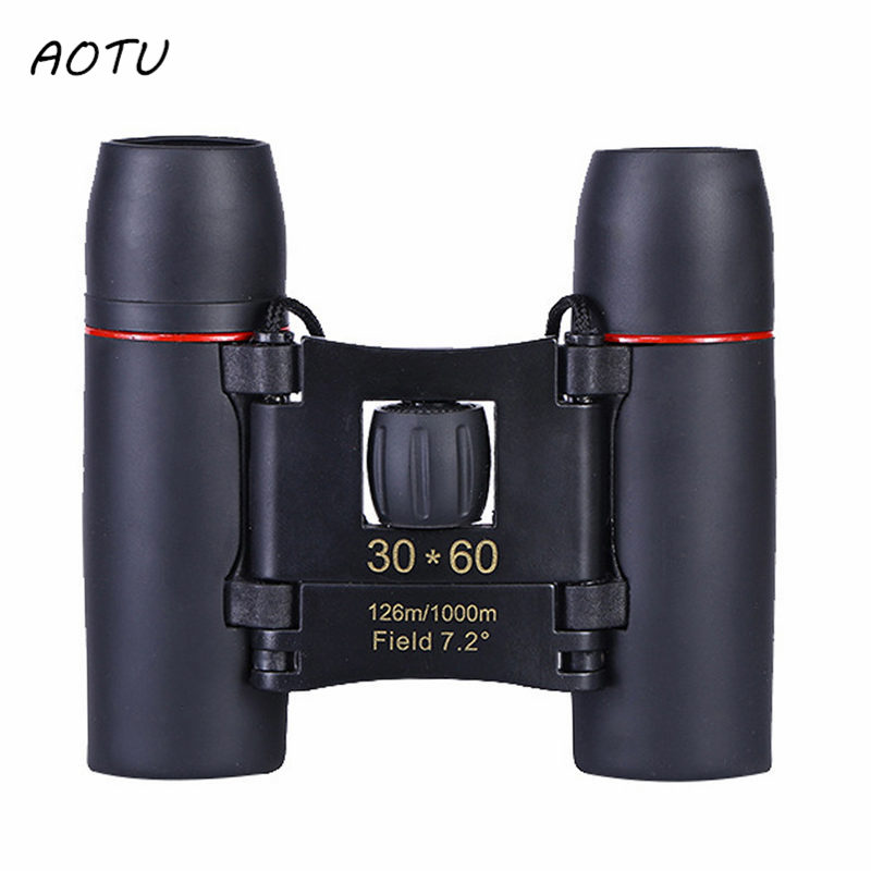 30*60 Folding Lightweight Binocular With Vision Clear Bird Watching Great for Outdoor Sports Games Concerts for Travel
