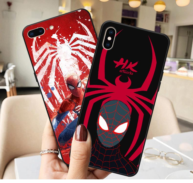 Spider man miles morales Marvel Print Soft silicone TPU Phone Case For iphone XS Max XR X 5 5s SE 6 6s Plus 7 7Plus 8 8 plus marvel glass iphone case