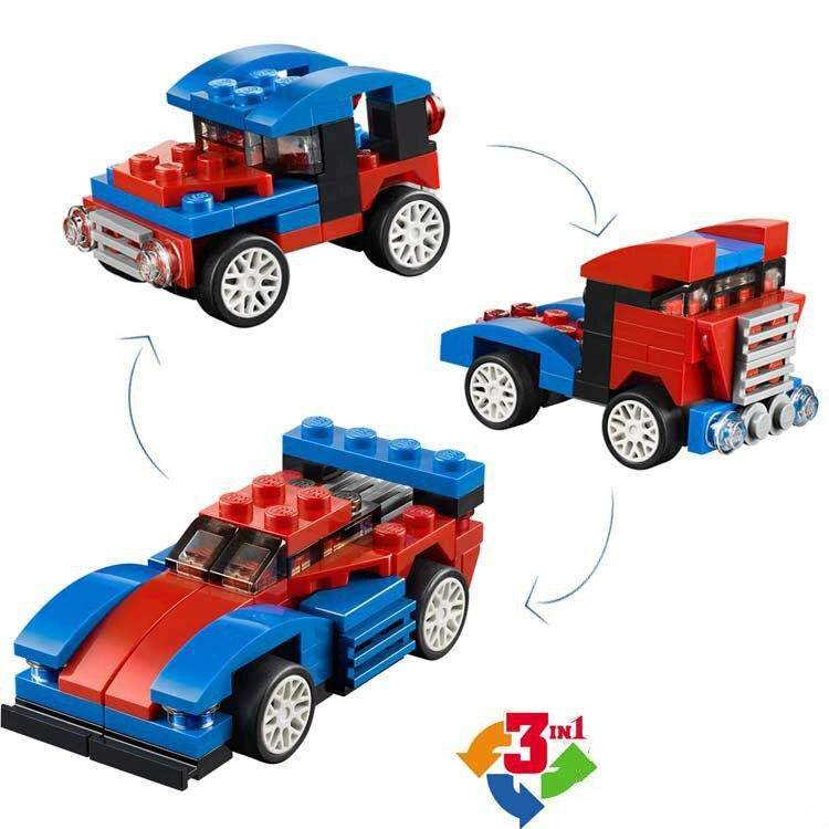 Decool ciudad creador 3 en 1 mini speeder Building Blocs Sets ladrillos niños figuras Juguetes compatible lepins DIY modelo
