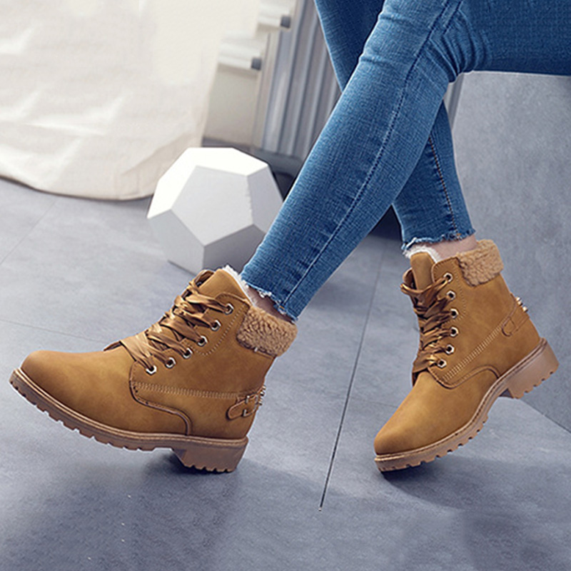 Fashion Women Boots For Martens Boots Women Ankle Boots Snow Boots Women Female Winter Boots 2019 New Bota Women Shoes Winter in Ankle Boots from Shoes