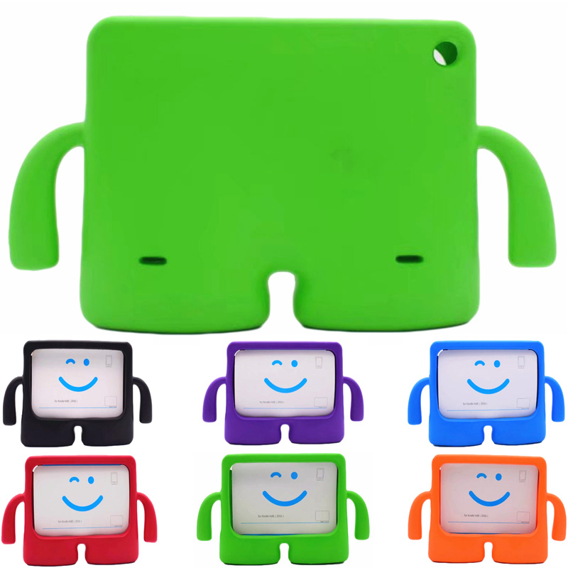 Cartoon robot Stand Shockproof Case For Amazon Kindle Fire HD8 2016 Tablet Cover for Amazon Kindle Fire HD 8 2017 Kids Safe Case white tablet protection cover ultra slim leather case stand cover for amazon kindle fire hd 7 tablet best case for tablet