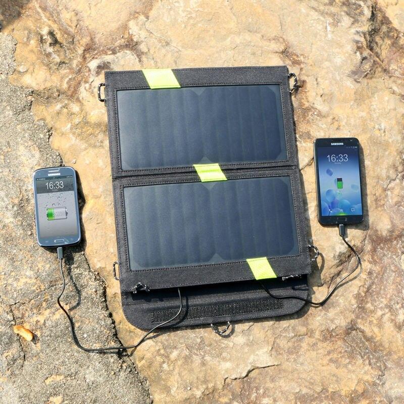 X-dragon alta calidad 14 W 5 V Panel Solar Sunpower cargador doble salida 5 V ba