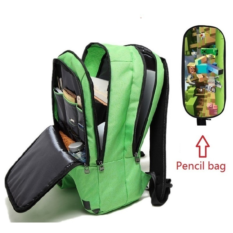 Backpacks Schoolbags Canvas Minecraft Travel Girls Boys High-Capacity Children's Cartoon
