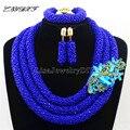 Boda nigeriano Beads Africanos Rushed Classic Women Joyería Crystal Set Nuevo Llegado Nigeria Cuentas de Collar de África HD7480