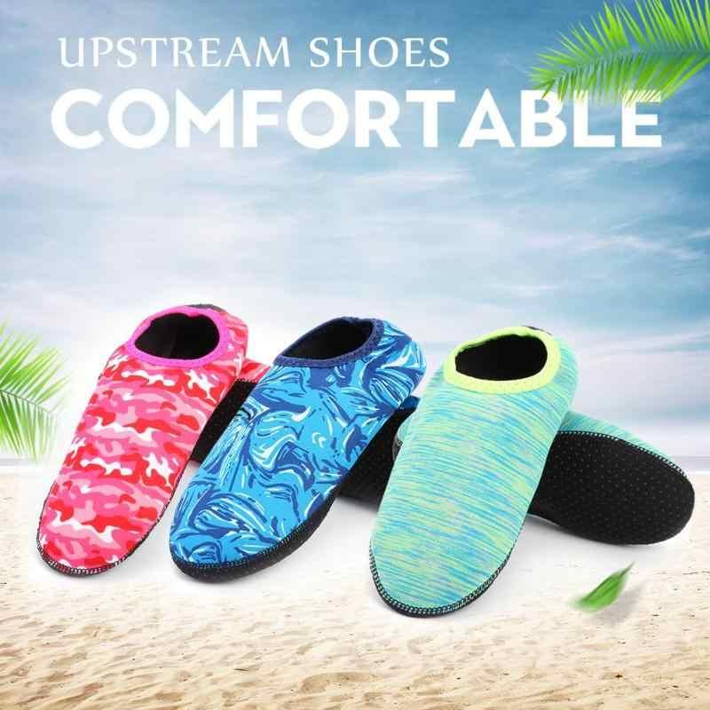 Yüzme Su Aqua Ayakkabı Erkekler Kadınlar Su Plaj Sahil Ayakkabı Unisex Yaz Aqua Düz Yumuşak kaymaz Sneakers Çorap