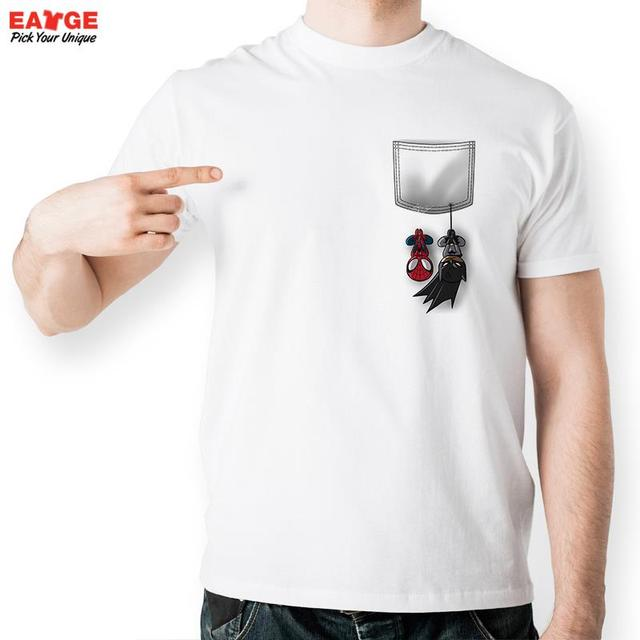 a104cca53815 Spider And Bat Hang On Your Pocket T Shirt Design Fashion Creative T-shirt  Cool Casual Novelty Funny Tshirt Men Women Style Tee