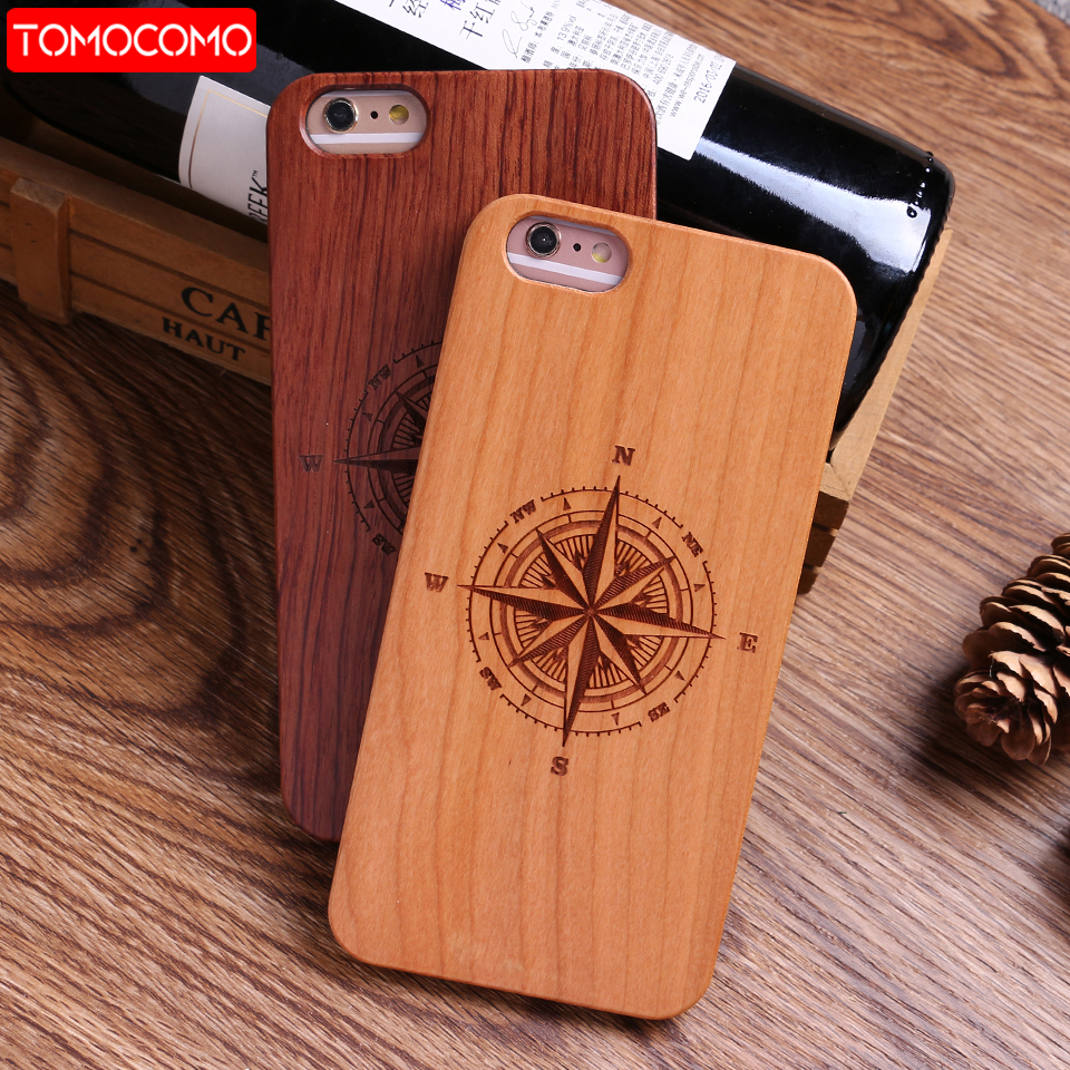 TOMOCOMO For iPhone 8 8Plus X 6 6S 6Plus 7 7Plus Dandelion Deer Compass Cartoon Floral Wood Case For SAMSUNG S8 plus S9 Plus