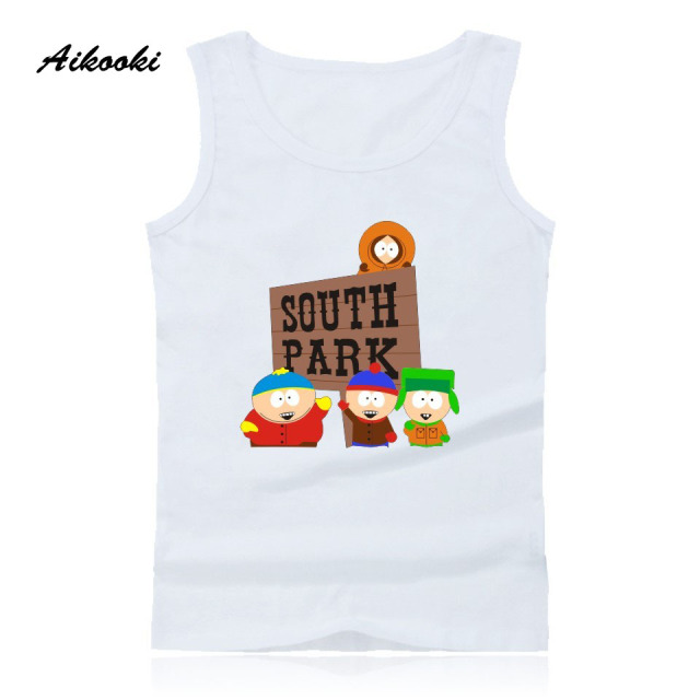 e21598931e9d8 US $7.41 47% OFF|Aikooki Funny Southern Park Eric Cartman Men Casual Vest  Fashion Summer Fashion Cotton Tank Top Hip Hop Vest Men's Sleeveless-in  Tank ...