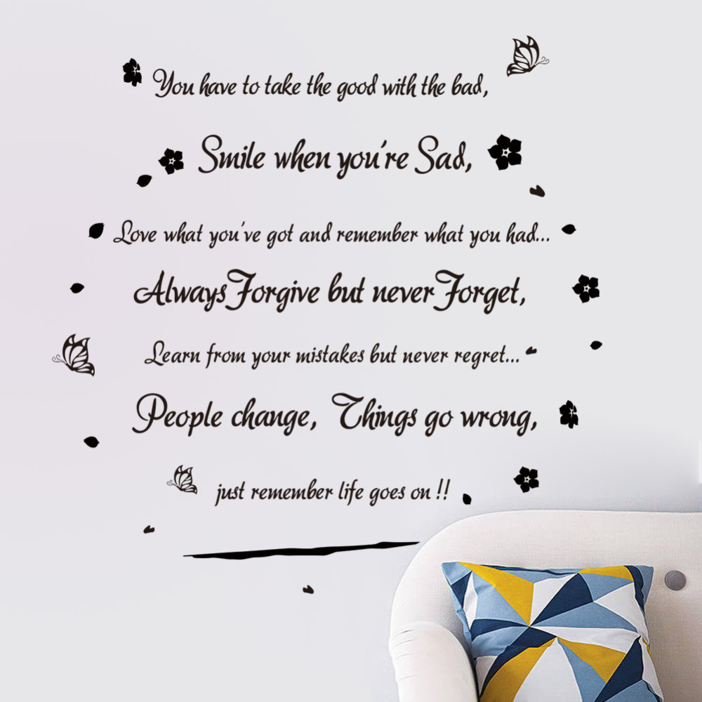 Quotes On Smile Smile When You Are Sad Inspirational Quotes Art Decal Decor Wall