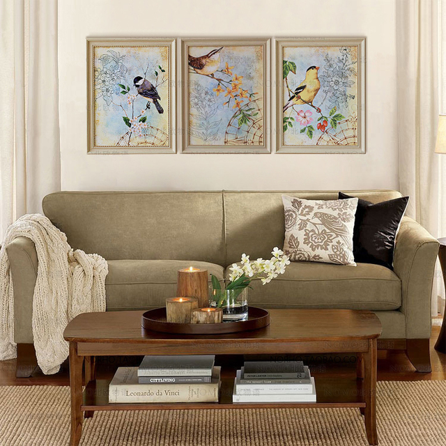 Imported original painting core American country living room upscale