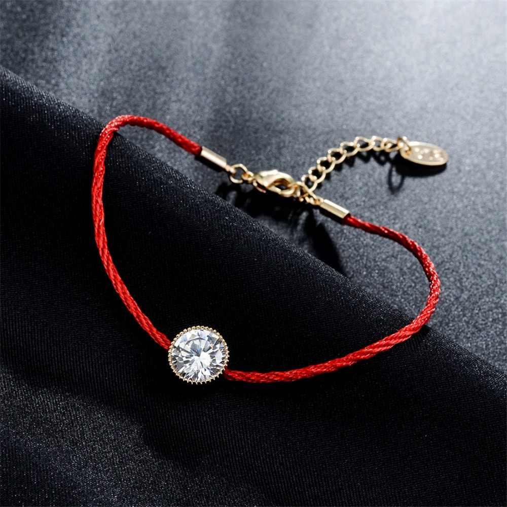 オーストリアのクリスタルチャームブレスレット女性のための赤のスレッド String ロープファッショントレンディ腕輪ジュエリー