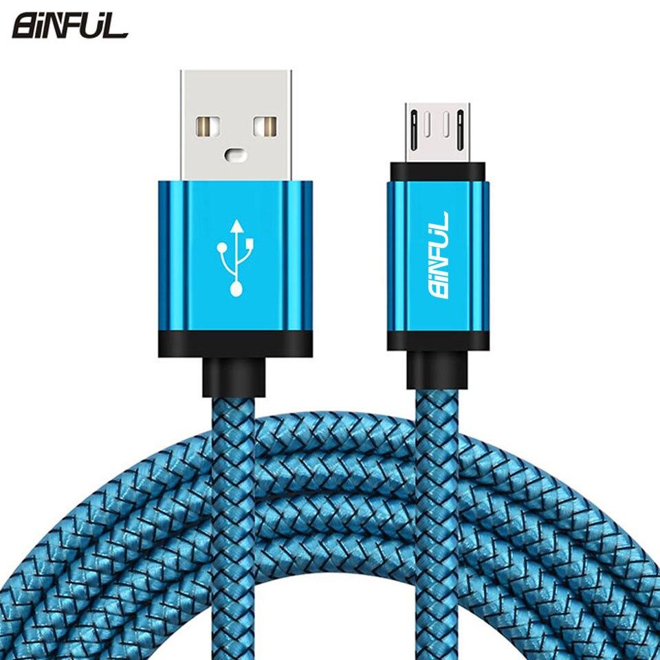 Micro cabo de carregamento usb para samsung galaxy a3/a5/a7 j3 2016 s6/s7/edge 1/2/3 metro longo kabel carregador do telefone móvel cabo curto