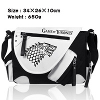 Game of Thrones Shouto Bag Cosplay Costume Male and female student bags Ice and fire song casual shoulder bag