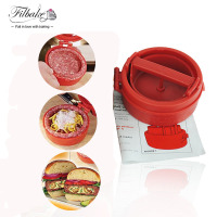 Kitchen Supplies Stuffed Burger Press DIY Hamburger Grill BBQ Patty Maker Plastic Cooking Accessories DIY Meat