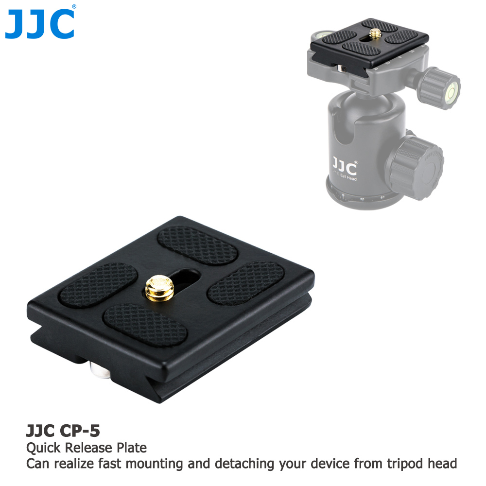 JJC Aluminium Alloy Quick Release Plate for Arca Swiss type system Tripod Head
