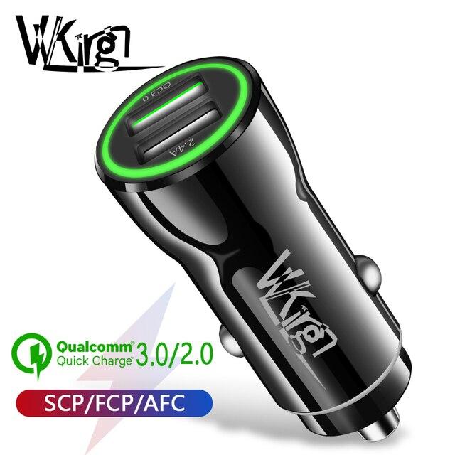 Cargador de coche VVKing Quick Charge 3,0 USB 2,0 para Samsung Xiaomi iPhone Huawei P30 Pro QC3.0 QC2.0 carga rápida de coche cargador de teléfono