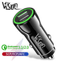 VVKing 5A chargeur rapide de voiture Charge rapide 3.0 pour Xiaomi iPhone Huawei LG SONY Samsung AFC FCP QC3.0 Charge 2USB double Charge de voiture