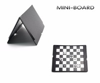 U3 Mini Magnetic Board Folding Traveler Plane Pocket Play Chess Piece Checkers Sets For Family Partry