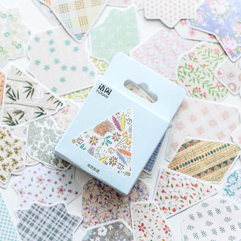 50 pz/pacco Fresco fiori di arte del panno di vita Decorazione Adesivi FAI DA TE Diario Planner Scarpbooking di tenuta Lable Sticker Escolar