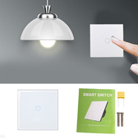 Smart Home Touch Wall Light Switch 1 2 3 Gang White Glass Panel Luxury Wall Switch