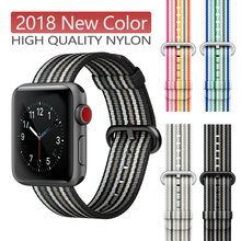 New Nylon Sport Loop Band for apple watch series 3 2 1 strap for iWatch 42MM 38 colorful Lightweight Breathable Replacement(China)