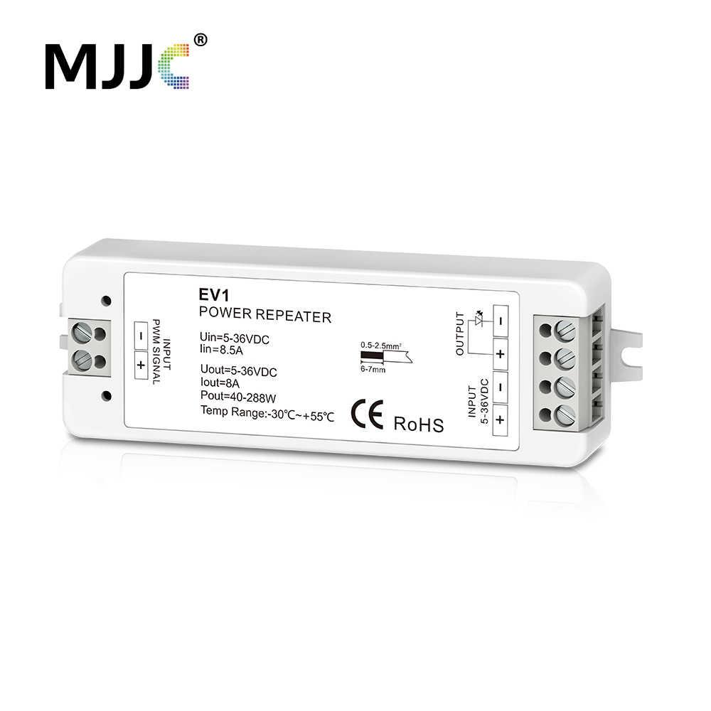 Светодиодный диммер Мощность ретранслятор 5V 12V 24V 36V 1 канал 8A Сингаль усилитель для синхронной работы один Цвет Светодиодные ленты MJJC-EV1
