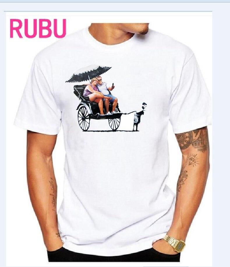 2017 RUBU Gap entre ricos y hombres camisetas Tops Hip Hop hombres de - Ropa de hombre