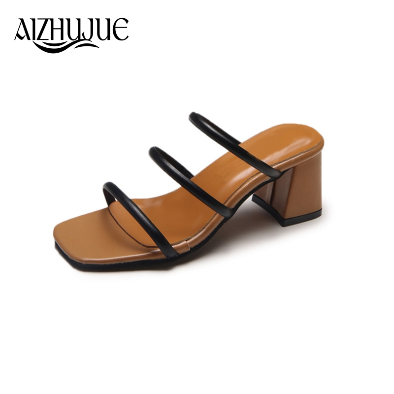 AIZHUJUE Women Sandals 2018 Summer New Fashion High Heels Platform Sandals Simple Vintag ...
