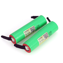 2PCS/LOT Liitokala 100% new Original 18650 INR1865025R 20A discharge li-lon Rechargeable Power Battery +DIY Nickel