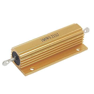100W Power 0.22 Ohm 5% Aluminum Wirewound Resistor New 100w 300 ohm 5% aluminum screw tabs resistor gold tone