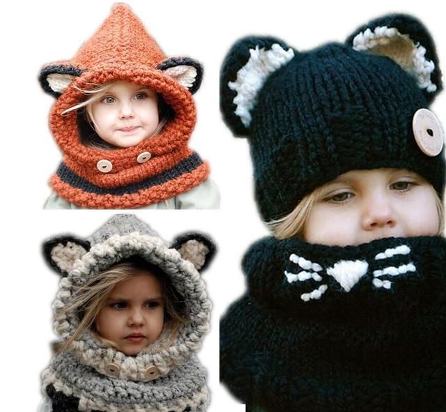 Gorros de zorro para niños 397b1a15033