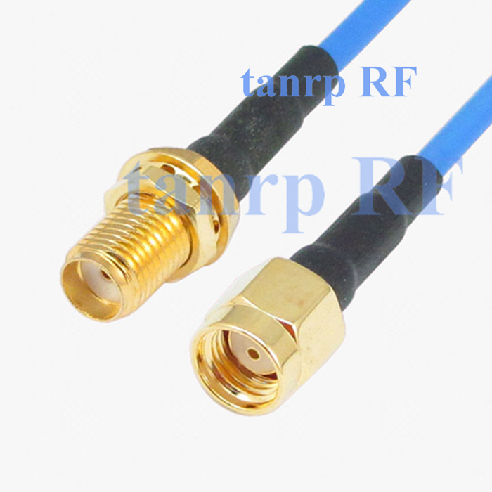 15CM coaxial Sexi Flexible blue jumper extension cable RG405 6in SMA female jack to RP-SMA male RF 3G 4G router WIFI