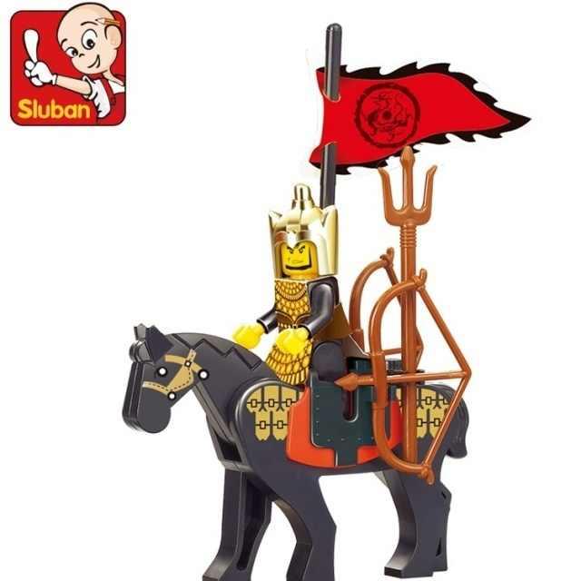 S модель совместима с Lego Sanguo Knight Series Модели Конструкторы Игрушки Хобби для мальчиков и девочек