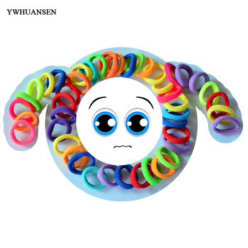 20pcs Girls Elastic hair bands Imitation Scrunchies hair ties kids Soild accessories Gum for hair bands