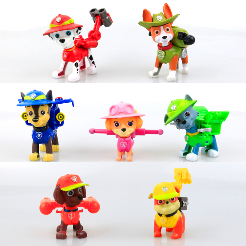 2017 New Canine Patrol Dog Toys Russian Anime Doll Action Figures Car Patrol Puppy Toy Patrulla Canina Juguetes Gift for Child new 3 5inch patrol dog anime toys action figure moviejuguetes brinquedos cute puppy patrol toys for child gift girls children