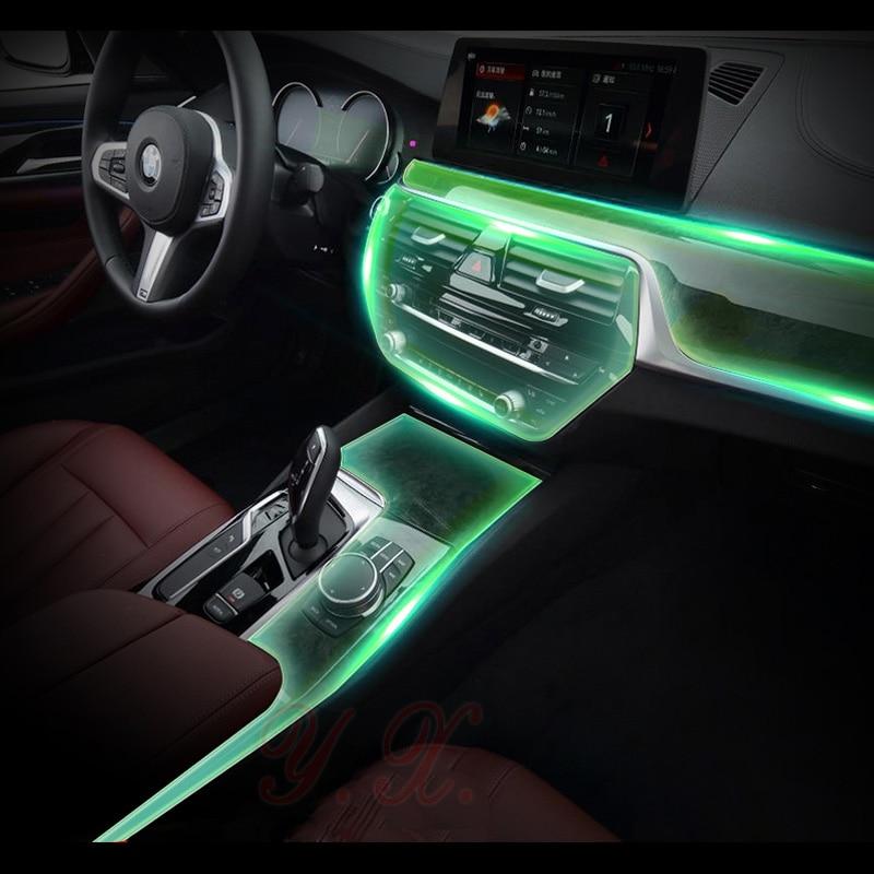 Car Sticker For BMW Transparent TPU Protective Film Stickers For BMW G30 New 5 Series 528Li 530li 540 Interior Accessories