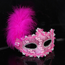 Fashion Small Cap Lace Ball Mask Women Girl Party Cosplay Masquerade Dance Bar Sexy Carnival Halloween feather Half Face Mask 1pcs black women lace mask party cosplay masquerade dance bar sexy carnival halloween black cat type half face mask