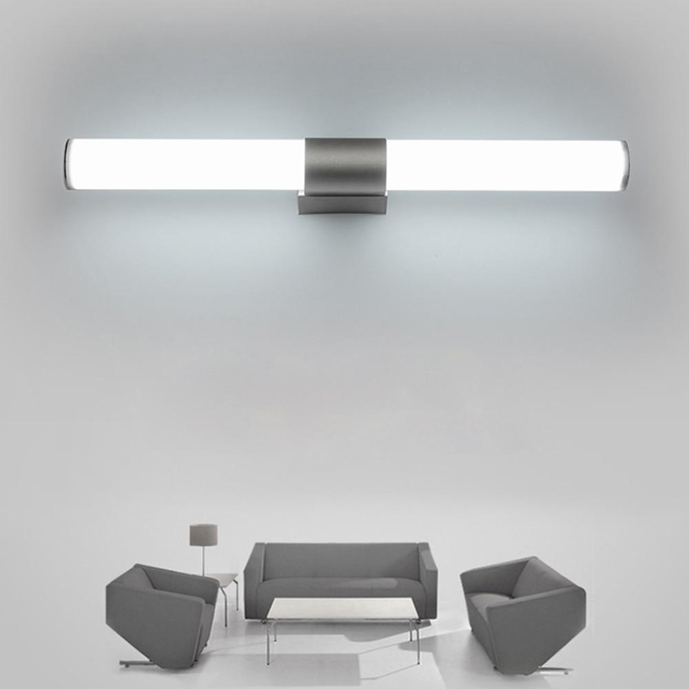 Lustro światła Lampy ścienne łazienka Led Wodoodporna 12 W 16 W 22 W Ac85 265v Rurka Led Nowoczesna Lampa ścienna łazienka Oświetlenie
