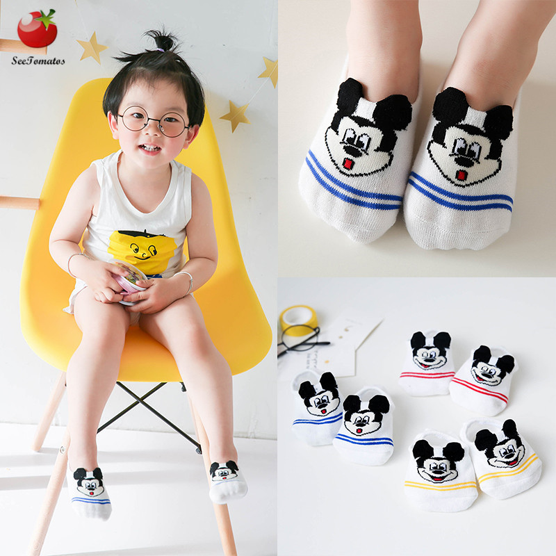 3 Pairs/Lot New Summer Baby Invisible Ankle Socks Boys Girls Short Socks Kids Cotton Cartoon Socks Cute Cat Rabbit Short Socks