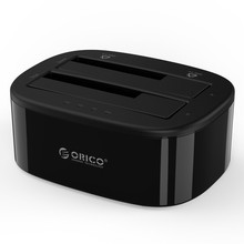 Free shipping ORICO dual disk hard disk box 2.5 / 3.5 inch external hard drive shelf usb3.0 mobile hard disk box base