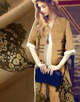 fabrics for dress Lute pattern silk linen blended fabric dresses gown tweed scrapbooking cheap print satin B670