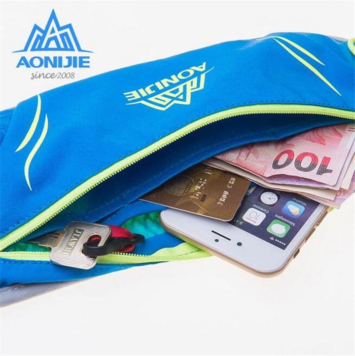 AONIJIE Running Bag Marathon Waist Pack Kettle Bag Outdoor Hiking Racing Gym Fitness Money Belt Hip Bag