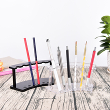100% Plastic Pen Jewelry Display Holder Stand Rack High Quality Clear Black White  Pen Holder