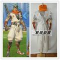 Genji juego Cosplay Traje de Halloween Outfit Uniforme Bufanda + camiseta + Capa + Pantalones + Correa + Guantes + Wristband Por Encargo